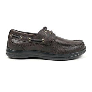 Aetrex Justin Brown Casual Leather Low Boat Shoes